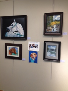 AANC Gallery's Mixed Media Exhibition, Work of 9 Artists and Window Display