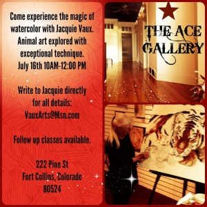 Jacquie Teaches at the Ace Gallery in Fort Collins, Colorado